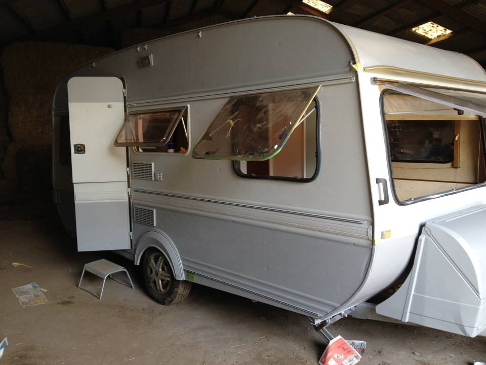 Campingvogn før renovering