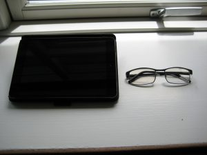 Glasses and ipad screen also got a treat