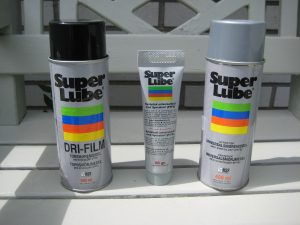 Picture shows the 3 Super Lube products we use