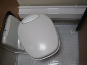 Toilet polished into- and externally finished result