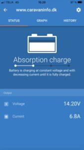 Alle ændringer kan foretages via sin Iphone eller android