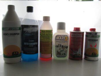 Test af vaske produkter